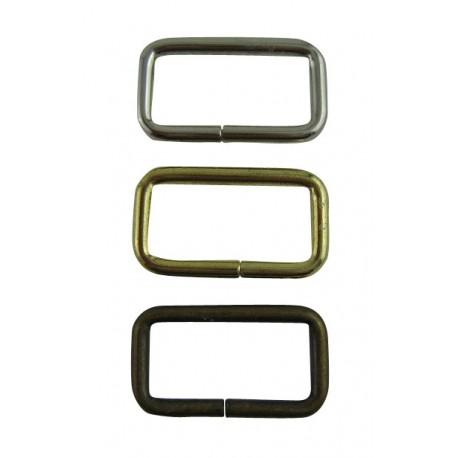2530 Metallirengas Suorakaide 25,3 x 14,4 x 2,4 mm Messinki 5 kpl