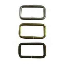 2530 Metallirengas Suorakaide 25,3 x 14,4 x 2,4 mm Antiikkimessinki 5 kpl